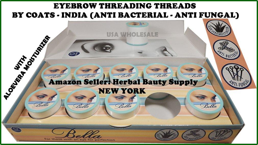 1 Box of 10 spools Bella Eyebrow & face Threading Thread 500m/Spool Coats