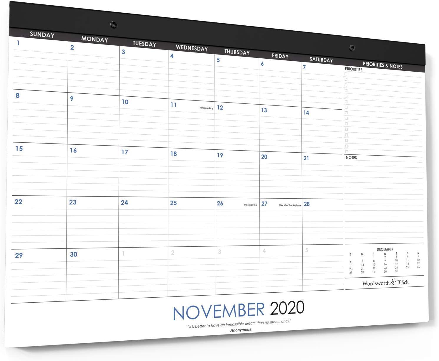 Wordsworth & Black 2020 Monthly Desk/Wall Calendar 17