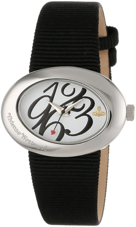 Vivienne Westwood Damen-Armbanduhr Ellipse Analog schwarz VV014WHBK