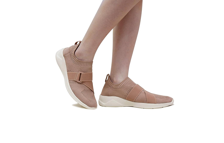 ROXY ROSE Lightweight Sneakers Slip On Mesh Women Casual Running US|Pink Shoes B07BPZ8L2W 7.5 M US|Pink Running 73fe41