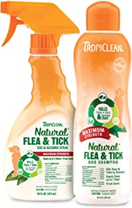 TropiClean Natural Flea & Tick Shampoos for Dogs, Made in USA