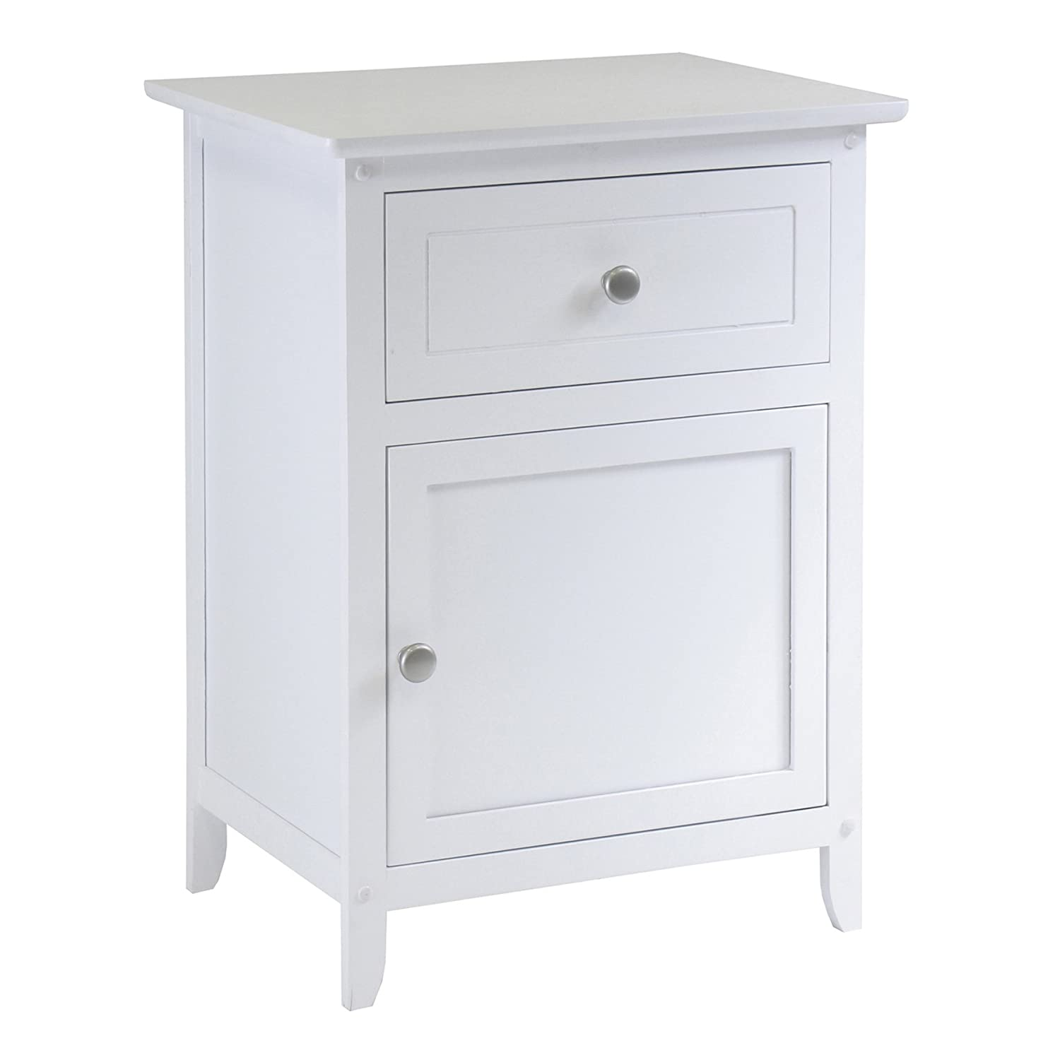 Amazon Winsome Wood Night Stand Accent Table With Drawer And Cabinet For Storage White Kitchen Dining