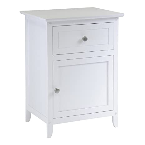 Winsome Wood Night Stand/Accent Table Drawer Cabinet Storage, White