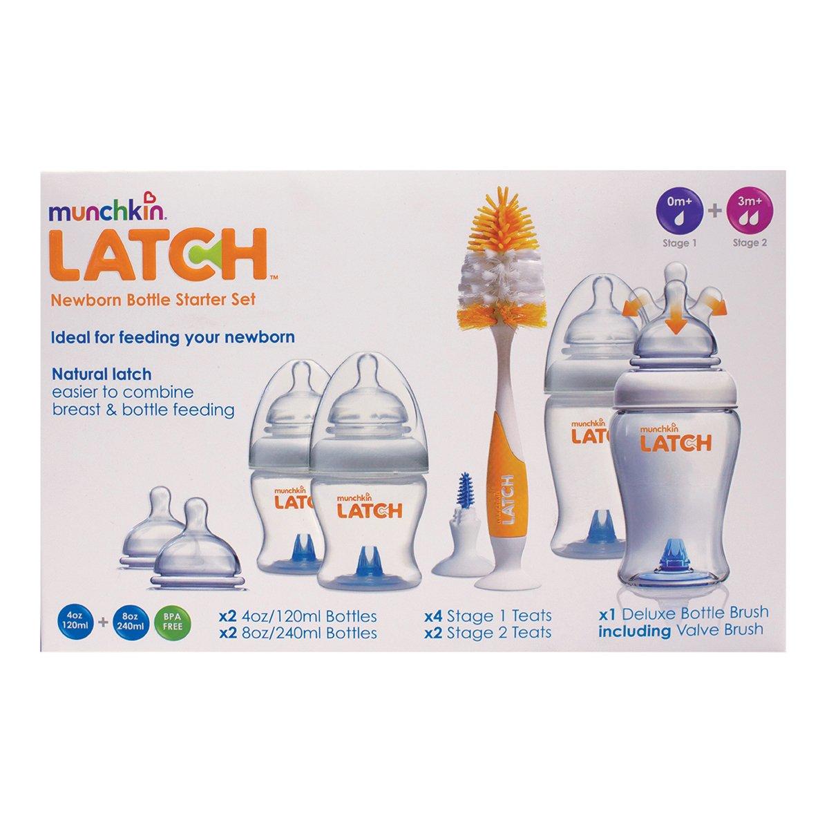 Munchkin Latch Fläschchen mit Zubehör, Set für Neugeborene Set für Neugeborene 011650