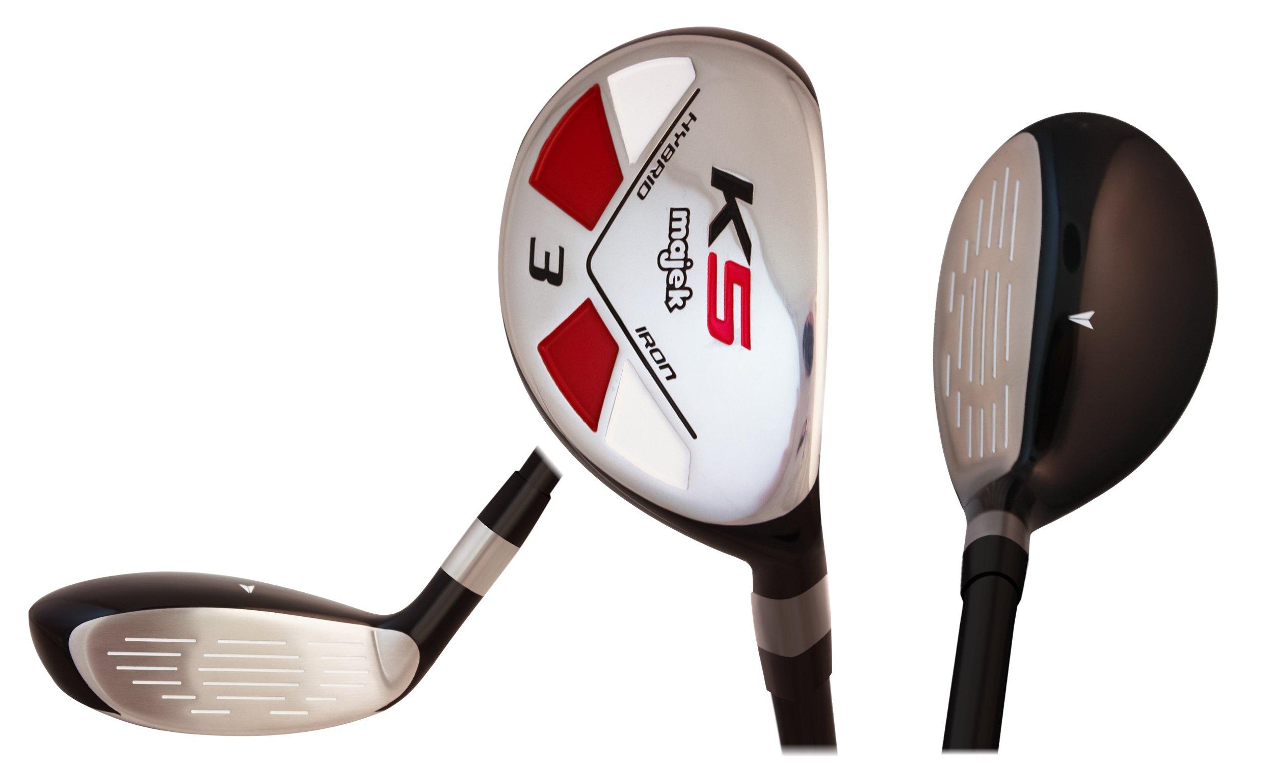 Majek Golf Petite Senior Lady #3 Hybrid Lady Flex Right Handed New Rescue Utility ''L'' Flex Club (Petite - 5' to 5'3'') with Tacki-Mac Arthritic Grip