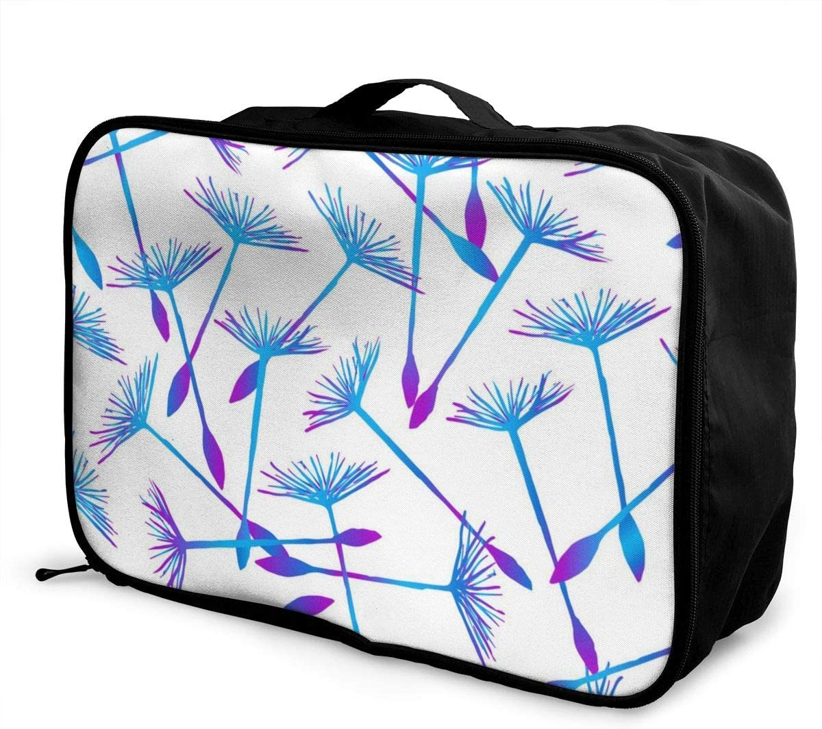 Yunshm Seamless Pattern With Colorful Flying Dandelion Vector Image Customized Trolley Handbag Waterproof Unisex Large Capacity For Business Travel Storage