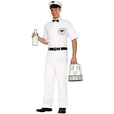 Forum Novelties Men's 50's Milkman Costume: Clothing