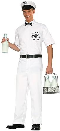forum novelties mens 50s milkman xl costume white