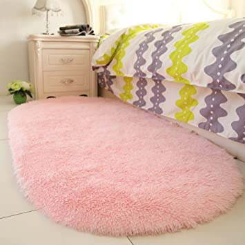 YOH Fluffy Pink Area Rugs for Bedroom Girls Rooms Kids Rooms Nursery Decor  Mats 2.6\'x5.3\'