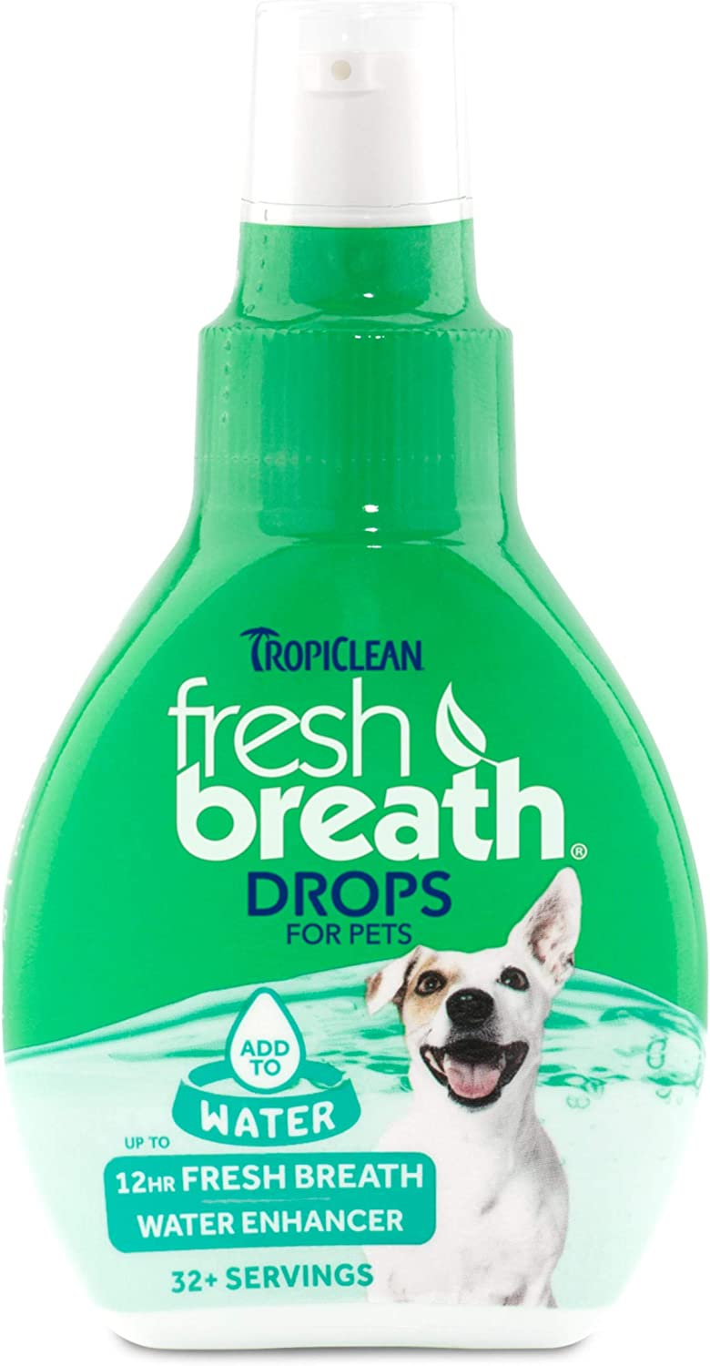 Fresh Breath by TropiClean Oral Care Drops for Dogs, 2oz - Made in USA : Pet Supplies