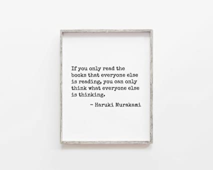 Amazoncom Malertaart If You Only Read The Books Haruki