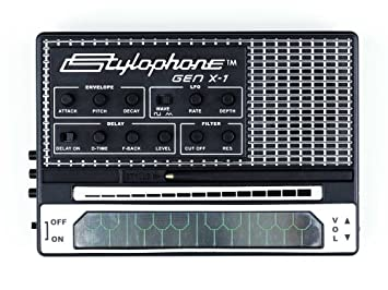 stylophone gen x 1 portable analogue synth with built in speaker