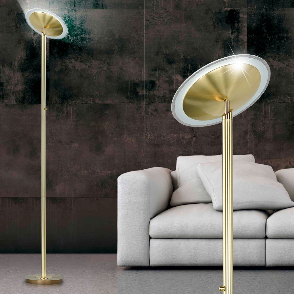Deckenfluter 20 Watt COB LED Stehlampe Leuchte Wohnzimmer Dimmer Trio 422810108 Amazonde Beleuchtung