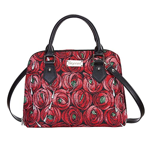 b952482d00 Image Unavailable. Image not available for. Color  Red Mackintosh Rose and Teardrop  Top-Handle Shoulder Bag by Signare Floral Unusual Designer