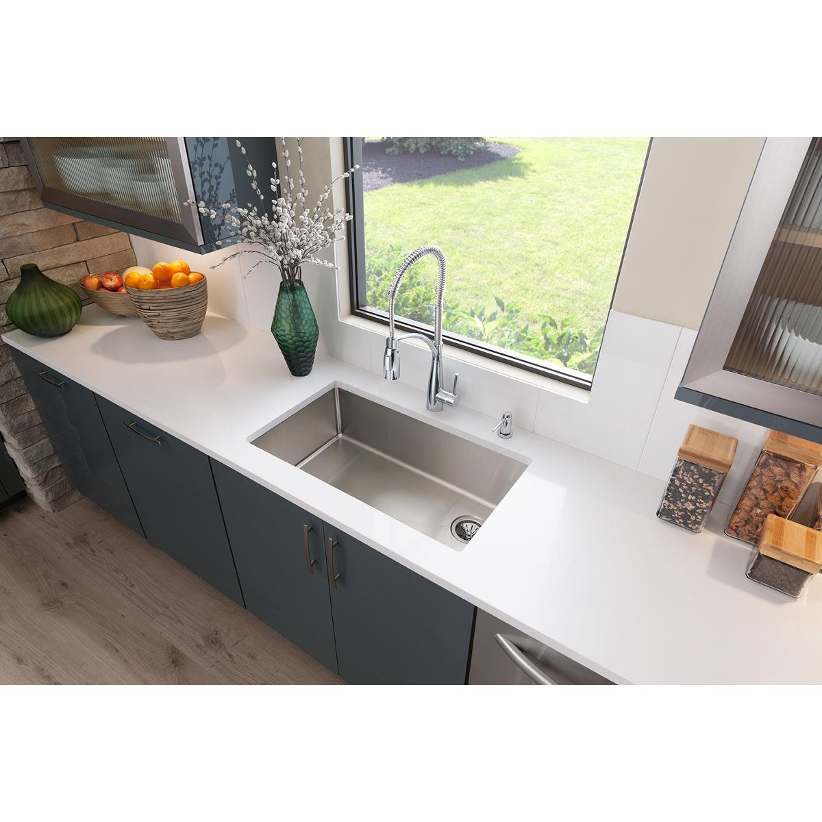 Elkay ECTRU30179RT Crosstown Single Bowl Undermount Stainless Steel Sink