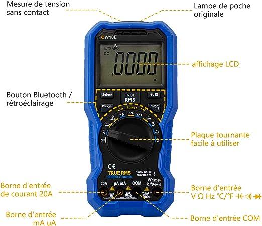 runder Mund Digitale Klemme am Erdungswiderstandstester Handheld-LCD-Display-Messger/ät Elektrischer Durchgangsmesser mit Datenspeicher Aluminiumbox