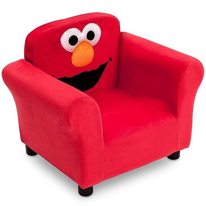 Amazon.com: Silla tapizada de Elmo de Sesame Street: Baby