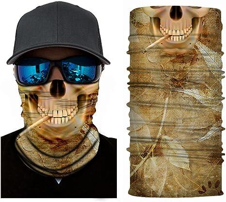 Pasamontañas 3D, diseño de calavera, sirve también como bandana o ...