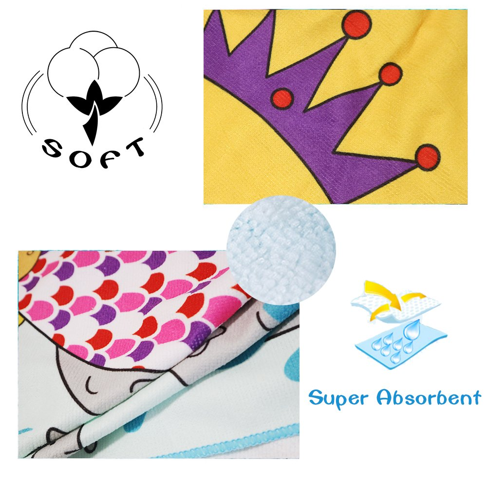 Xplanet Toddler Beach Bath Towel, Multi-use for Hooded Poncho Swim Beach Pool Poncho Bath Towel, Home Bath Robe for Kids Child 2-7 Years Boy&Girls by Xplanet (Image #3)