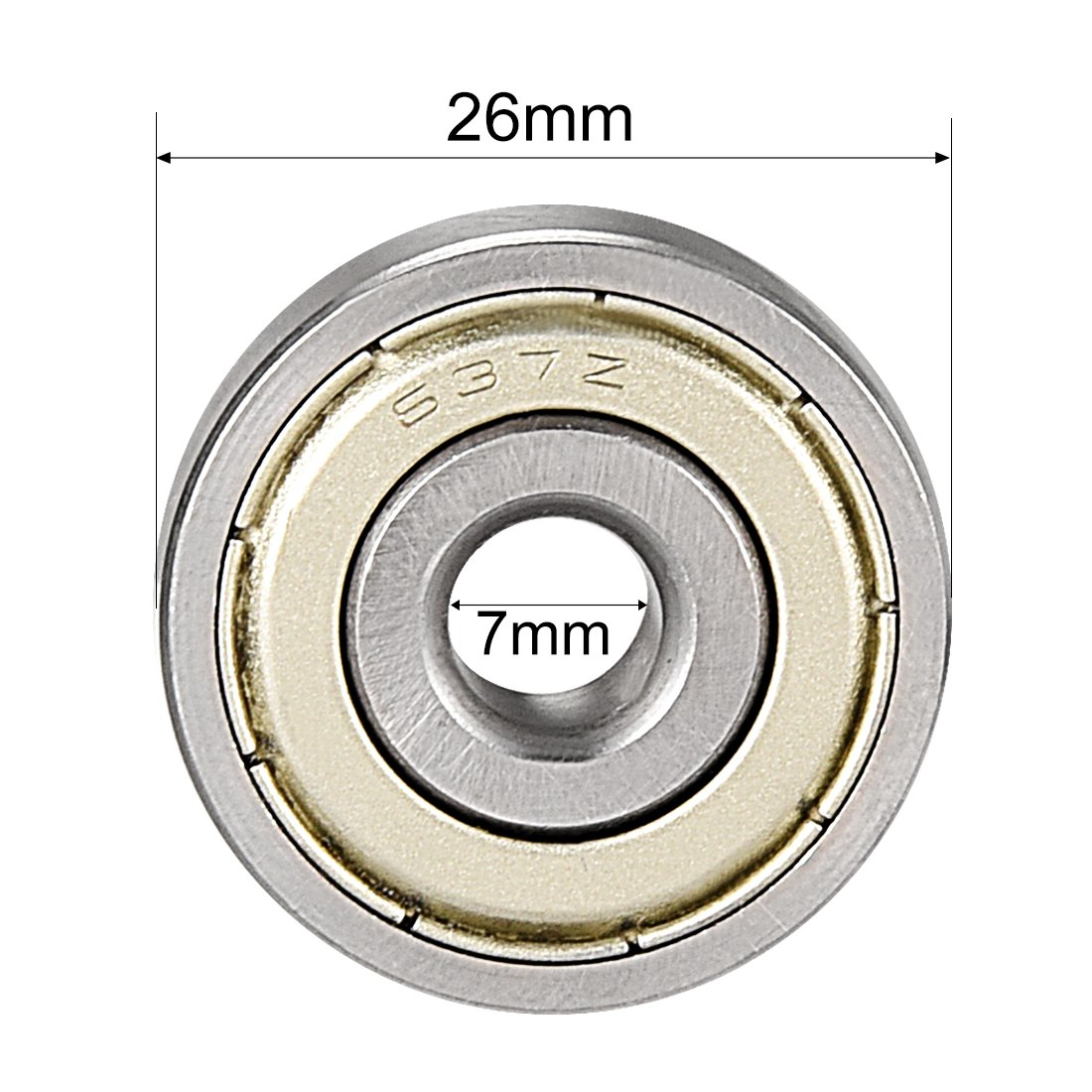 5mm x 11mm x 5mm Chrome Steel Bearings sourcing map 685ZZ Deep Groove Ball Bearing Double Shield 685-2Z Pack of 1