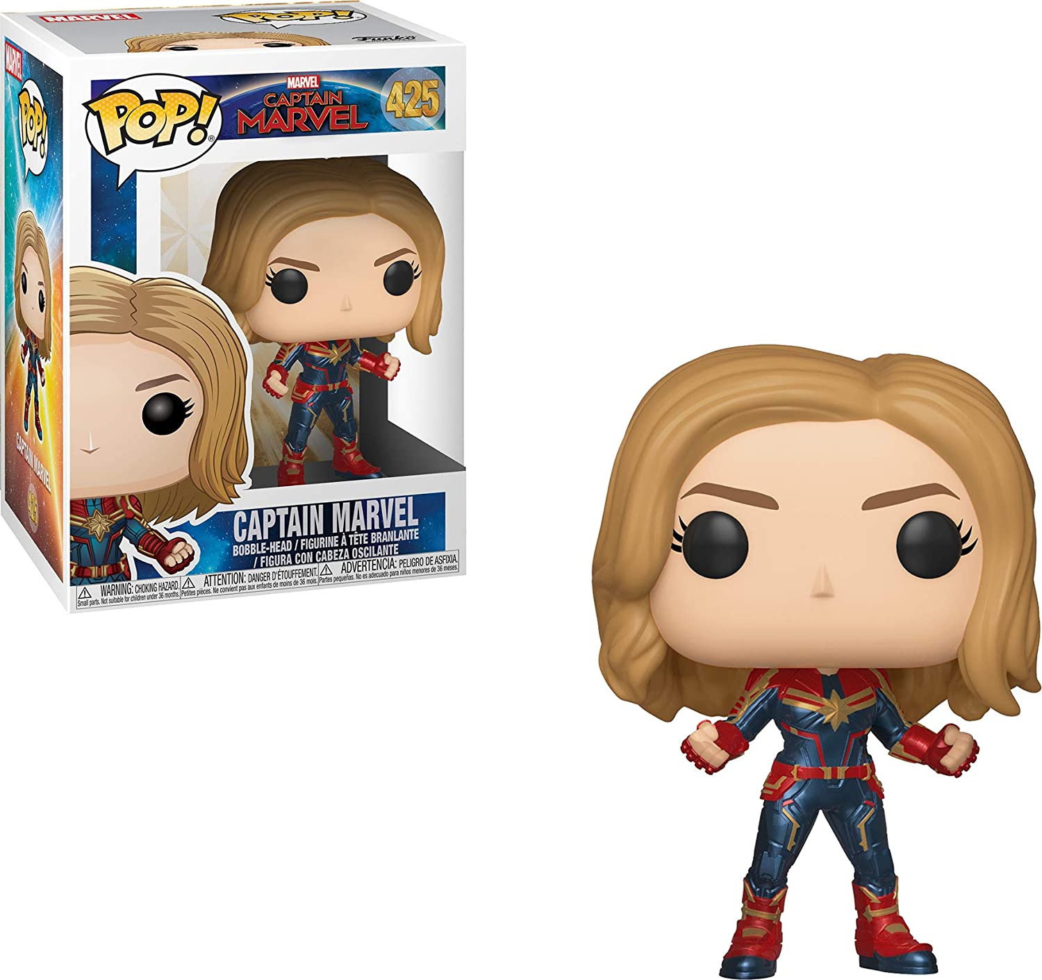 Funko 36341 Bobble Capitán Marvel: POP 1, Multi color [Los estilos ...