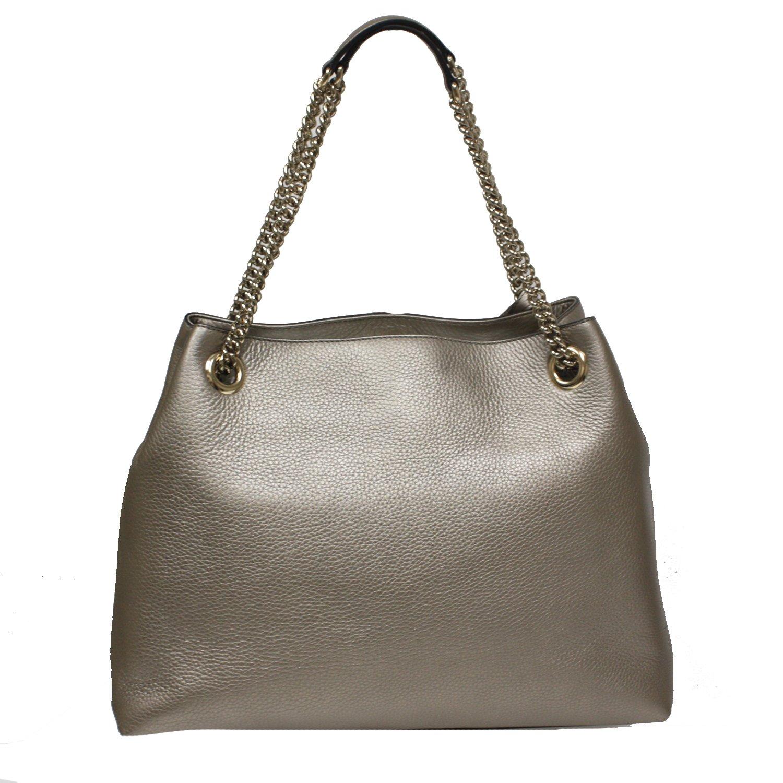 0a2078a31d9c Amazon.com: Gucci Soho Interlocking GG Golden Metallic Beige Chain Shoulder  Handbag 308982 9524: Shoes
