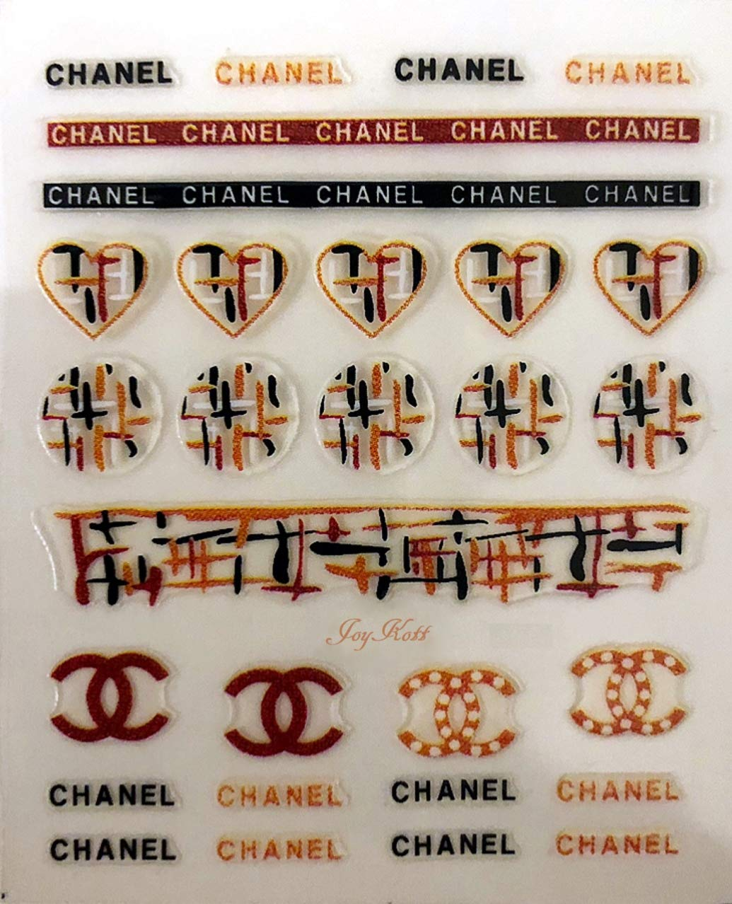 Amazon com joykott luxury brand coco chanel vintage nail art stickers beauty