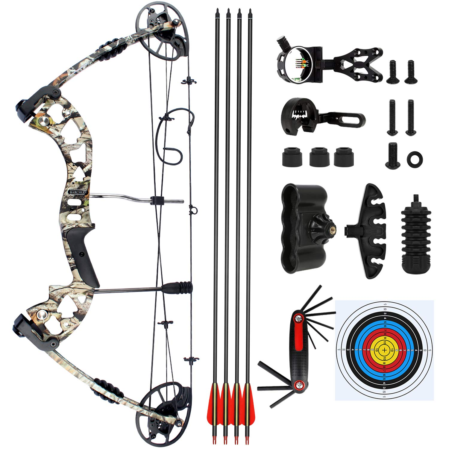 BARCHERY Compound Hunting Bow kit, Draw Length 23 5