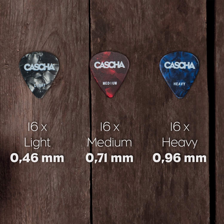 ukul/él/é m/édiators pour guitare acoustique accessoires pour guitare CASCHA Set de 96 m/édiators pour guitare basse guitare /électrique