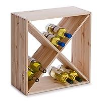Zeller 13170 Portabottiglie di Vino, Legno, Beige, 52x25x52 cm