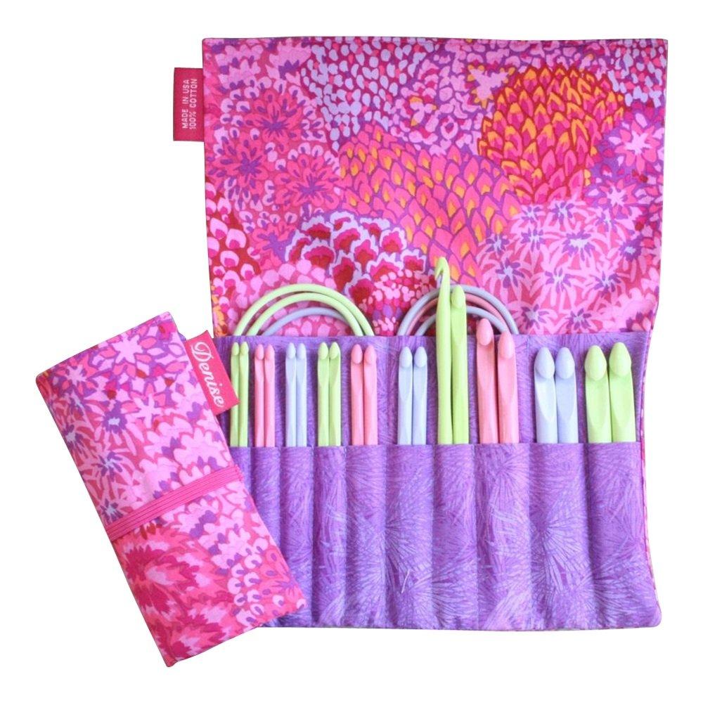 Denise2Go, Crochet for a Cure 2-Hook, Interchangeable Crochet kit - ''Pink Bouquet'' by Denise Interchangeable Knitting & Crochet (Image #1)