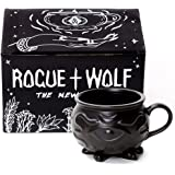 Rogue + Wolf Cauldron Coffee Mug in Gift Box Porcelain 3D Novelty Mugs Gothic Tea Cup Witchcraft Wiccan Supplies 14 oz 400ml