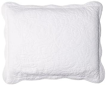standard pillow shams. Martha Stewart Damask Trace Quilted Standard Pillow Sham In White Shams