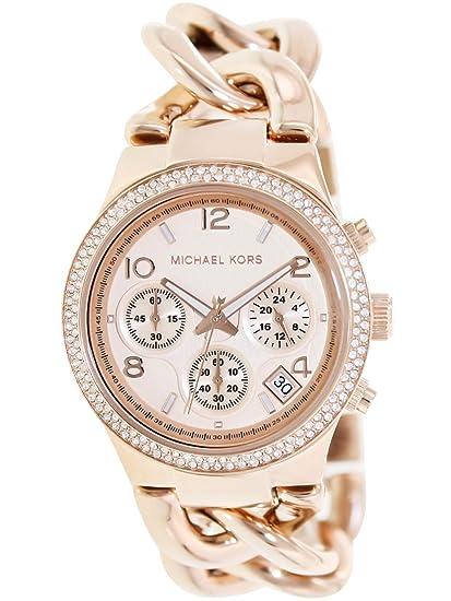 a7f48ff829e8 Michael Kors Women s Runway Rose Gold-Tone Watch MK3247  Michael Kors   Amazon.ca  Watches