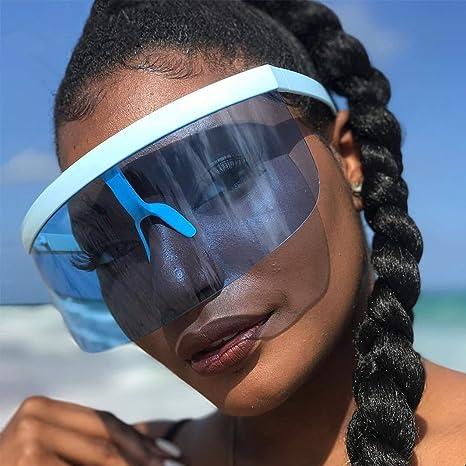 Amazon.com: Gafas de sol sexy de gran tamaño con visera y ...