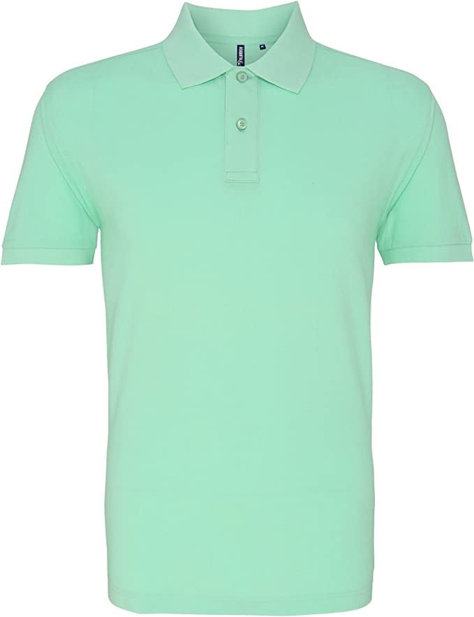 Asquith & Fox Asquith and Fox Mens Polo, Verde (Mint 000), Small ...