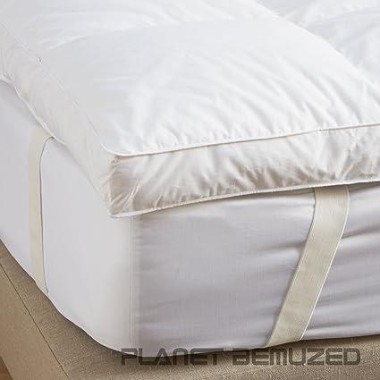 Lujoso Blanco, 85% pluma de ganso y 15% plumón colchón Enhancer por cosysleep