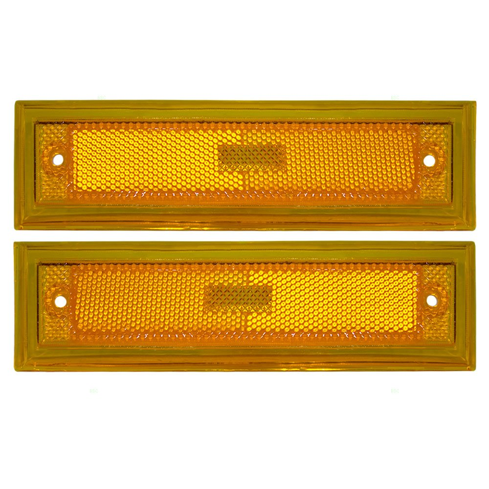 Driver and Passenger Signal Side Marker Lights Replacement for Chevrolet GMC Pickup Truck SUV 915449 915450 Aftermarket