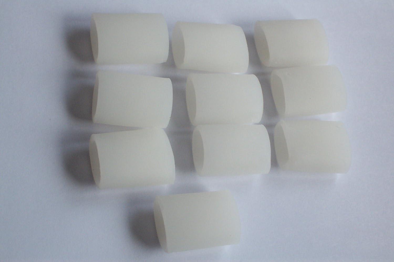 FootTrek - Set di 10 pezzi separatori per dita dei piedi in silicone / polimeri di gel, lunghezza 3,6 cm, per tutte le taglie Longxin