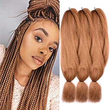 Amazon Com 3 Pack 27 Jumbo Braids Hair Crochet Braiding Hair 48inch African Collection Xpressions Synthetic Fiber Braiding Hair Extensions 57g Pack Color Honey Blonde Beauty
