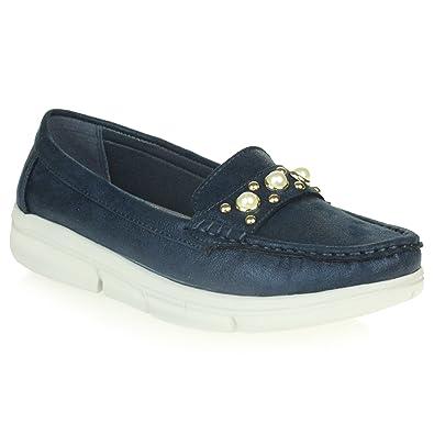 Mujer Señoras Comfort Oficina Trabajo Suela Flexible Suave Mocasín Mocasines Ponerse Zapatos Tamaño: Amazon.es: Zapatos y complementos