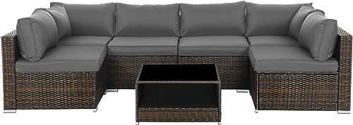 SONGMICS 7-Piece Patio Furniture Set