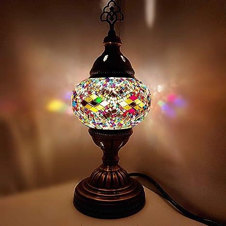 Turkish/Marroquí/Estilo Tiffany Cristal Lampara Mesa ...