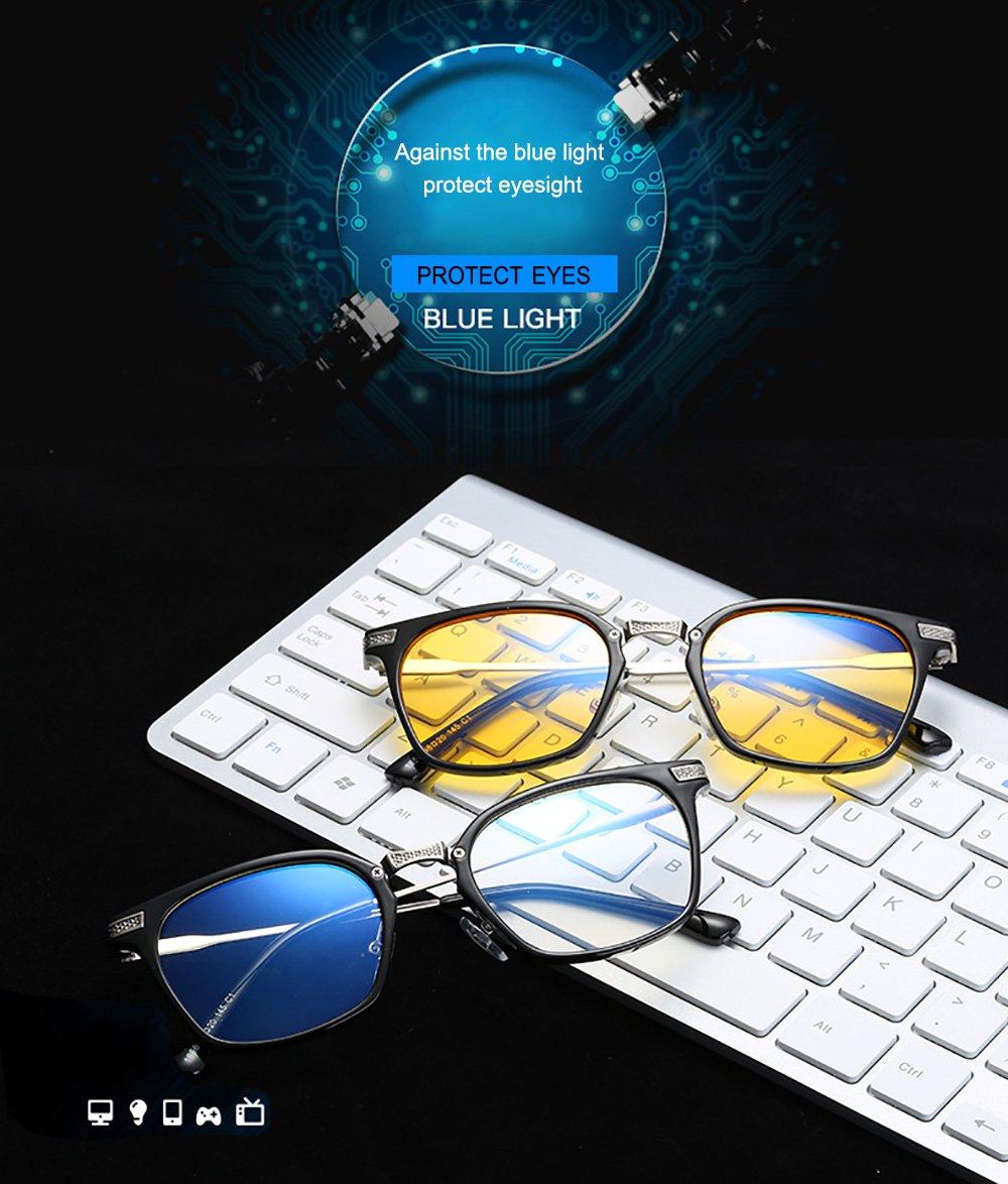 Luz Flexible computadoras (TR90) Marco Luz Azul Protege los negro ...