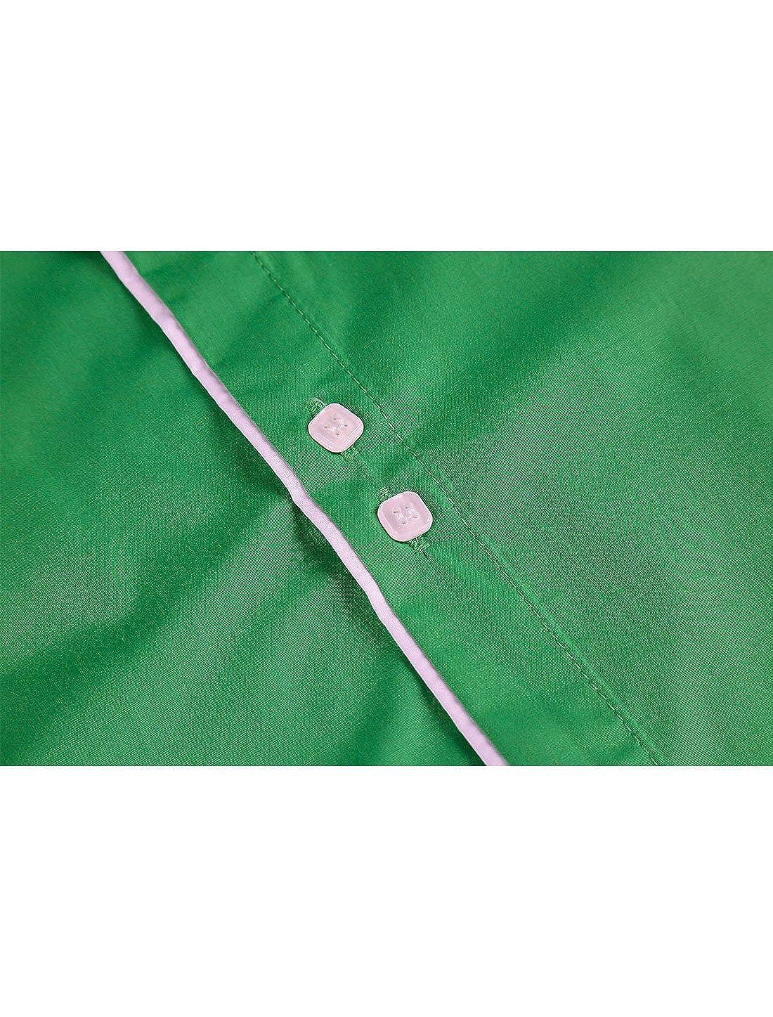 uxcell Men Contrast Trim Slim Fit Long Sleeves Button Down Formal Dress Shirt