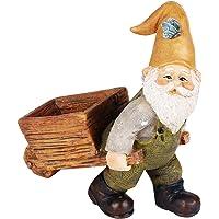 Wonderland Polyresin Miniature Fairy Garden Wheelbarrow Gnome for Decoration (3.3-inch)