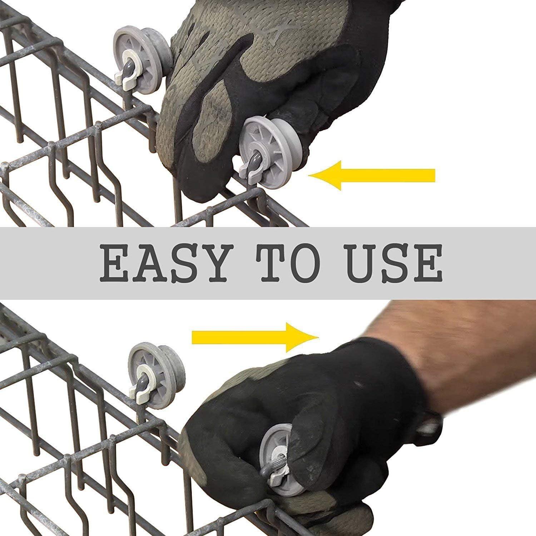 4pcs Dishwasher Lower-Bottom Basket Roller Wheels For Bosch Neff /& Siemens Grey