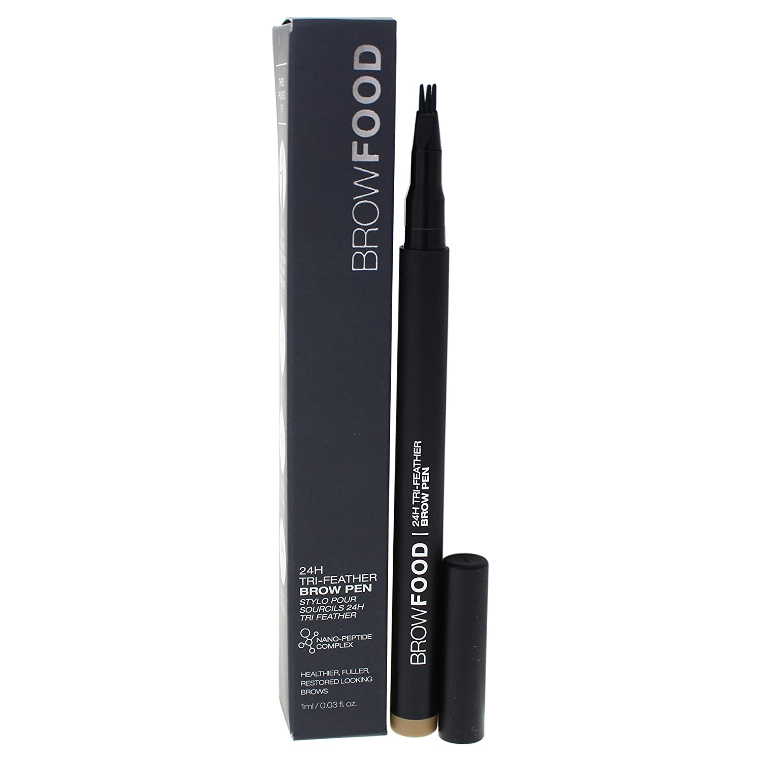BrowFood 24-H Tri-Feather Brow Pen, Dark Blonde