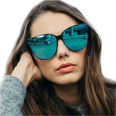 Polarized Sunglasses Women Driving glasses Fashion Cat Eye UV400 Mirror Eyewear