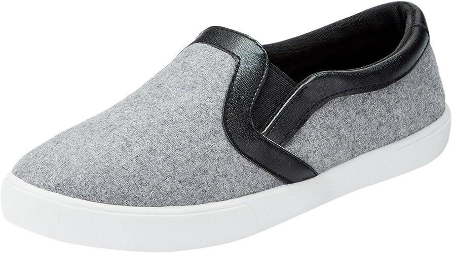 oodji Ultra Mujer Zapatillas Slip On con Acabado de Piel Sintética: Amazon.es: Zapatos y complementos